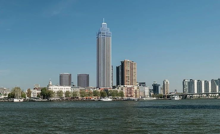 Zalmhaven Toren, Rotterdam – the ventilated facade construction starts with BILDA