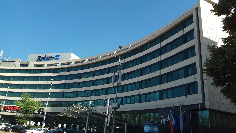 Front view of Radisson Blue Hotel, built with BILDA rainscreen.