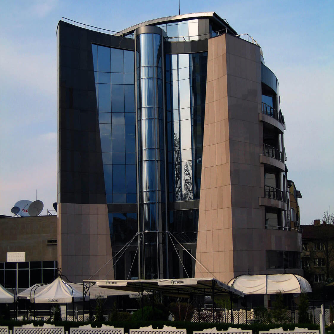 Front view of City Business center in Sofia, Bulgaria