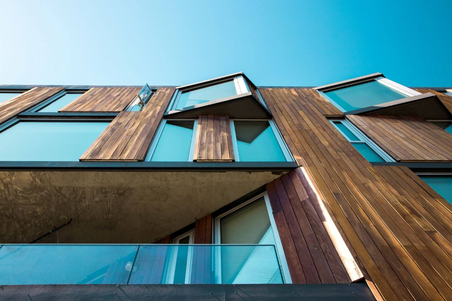 Rainscreen facade, illustrating the topic about rainscreen systems, cavity and joints